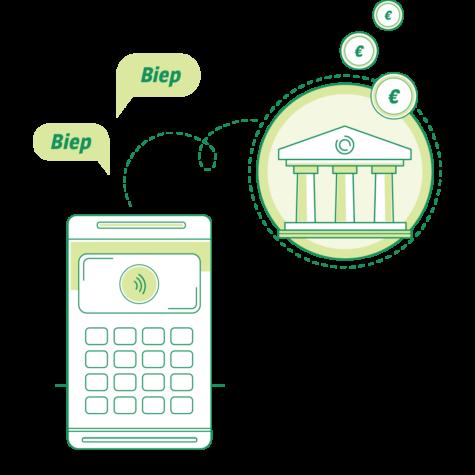 Snelle uitbetaling betaalterminal